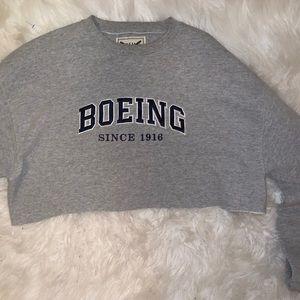 cropped BOEING sweatshirt